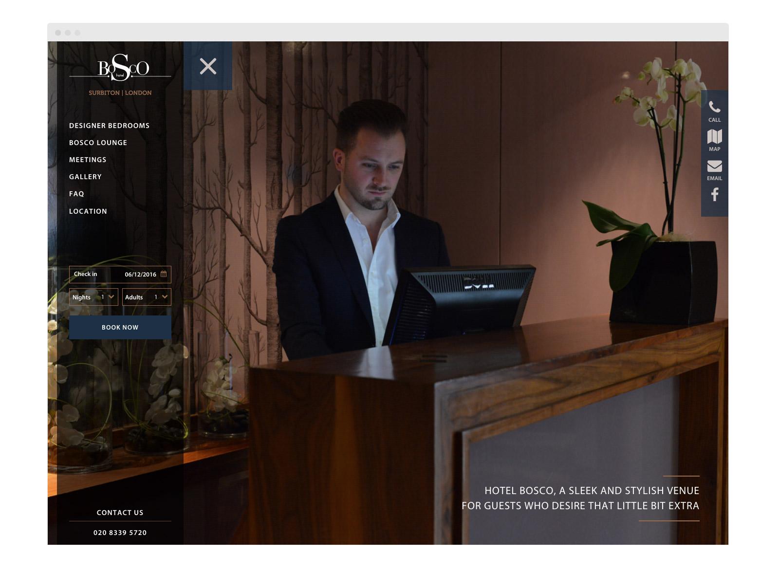 Bosco website homepage