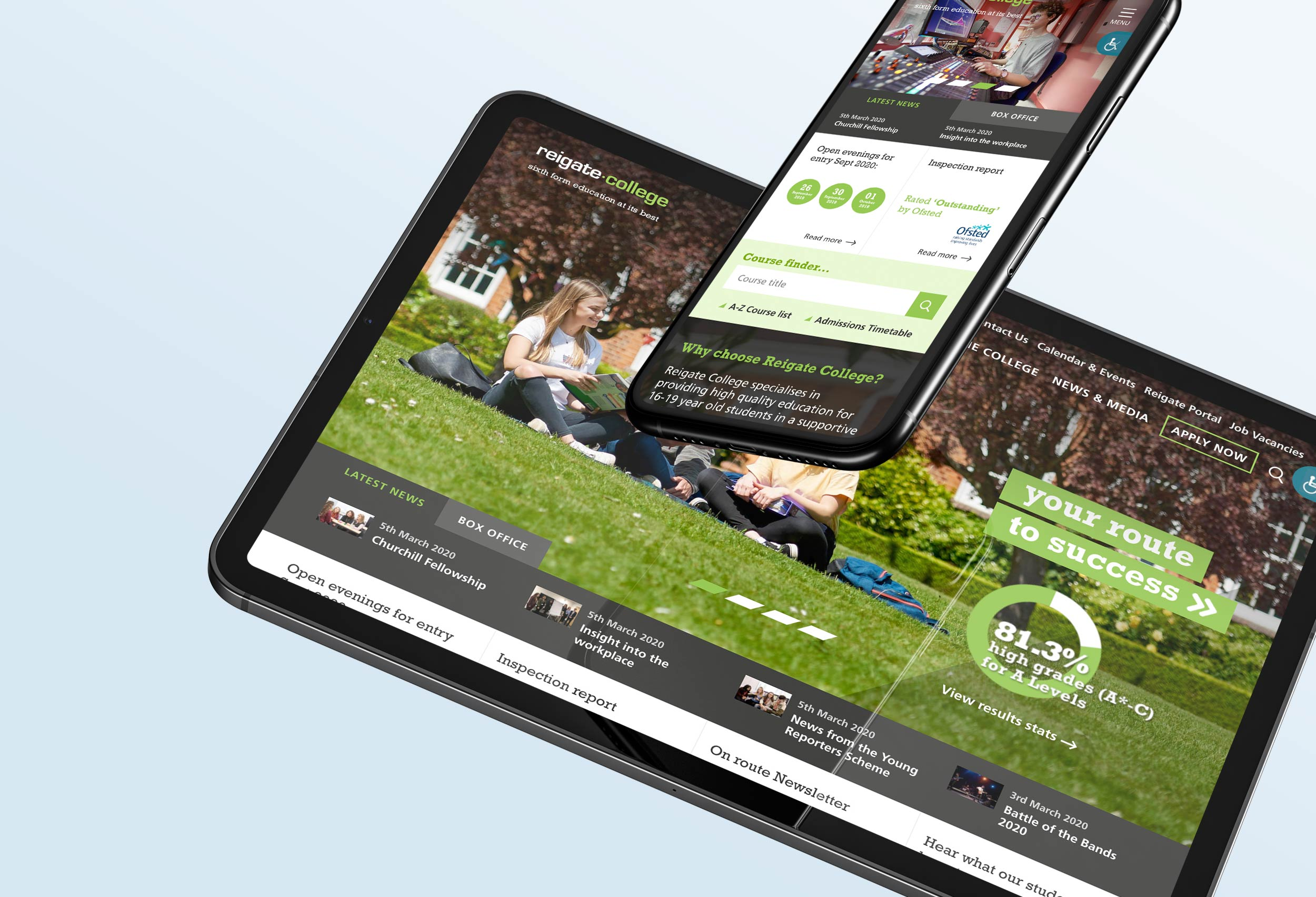 Reigate College website design
