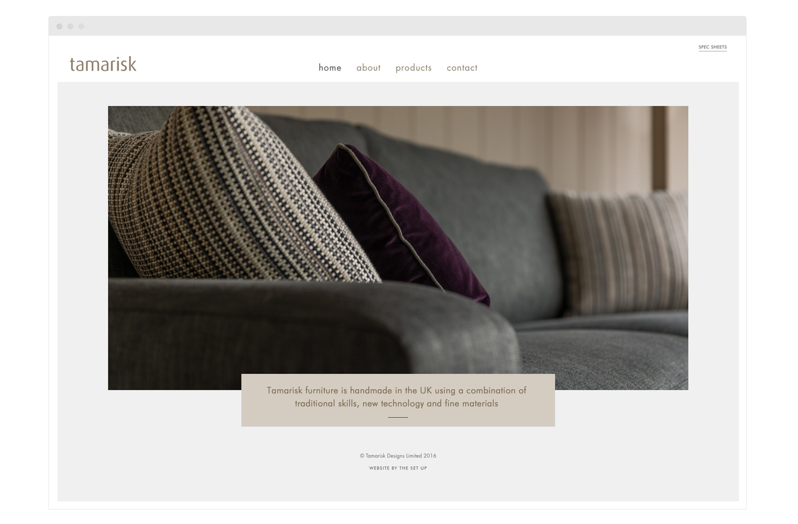 Tamarisk website home page