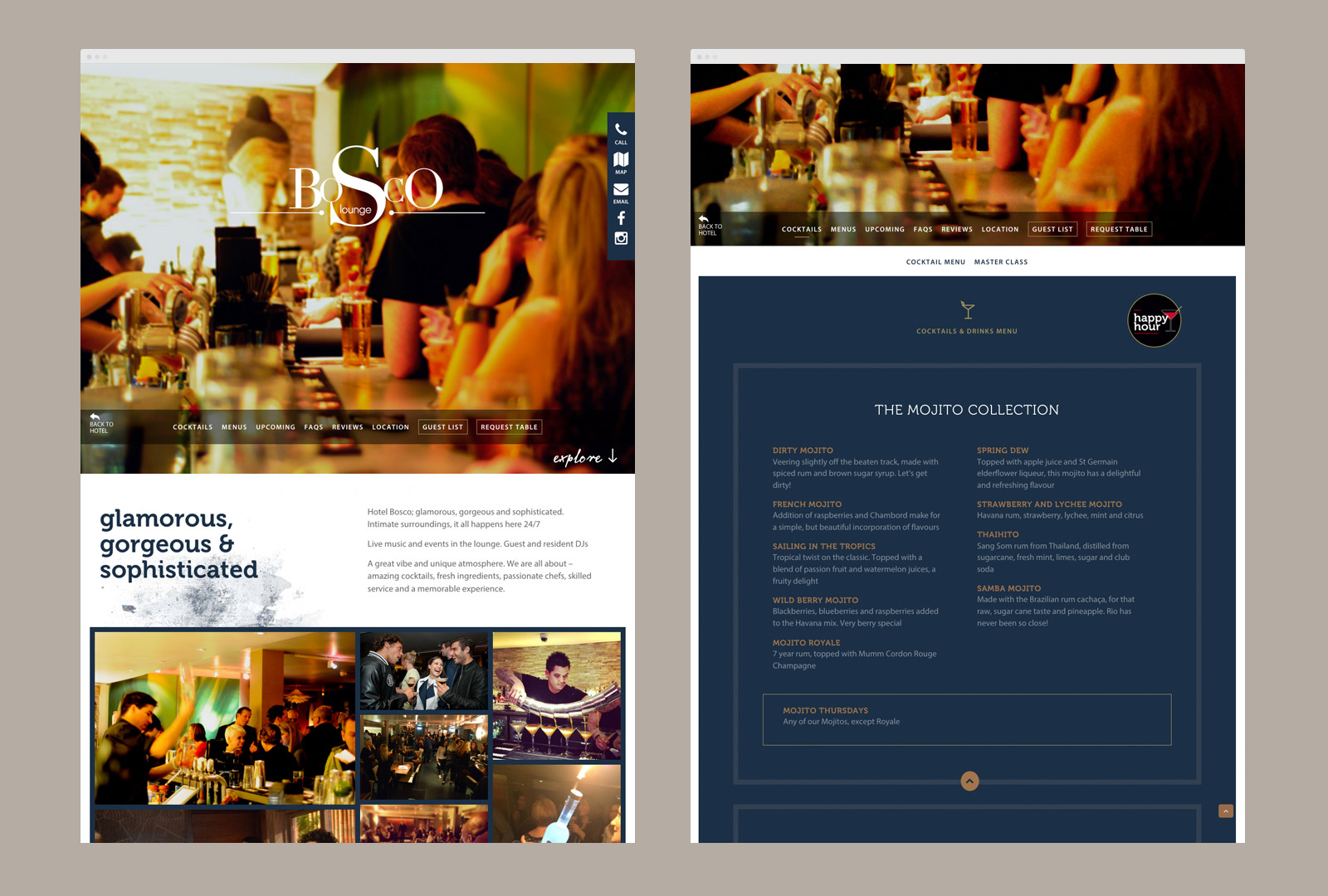 Bosco Lounge website