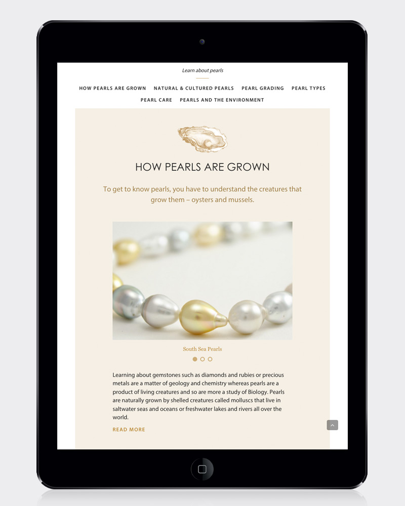 Jersey Pearl website